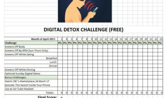APRIL 2017 DIGITAL DETOX CHALLENGE TEMPLATE