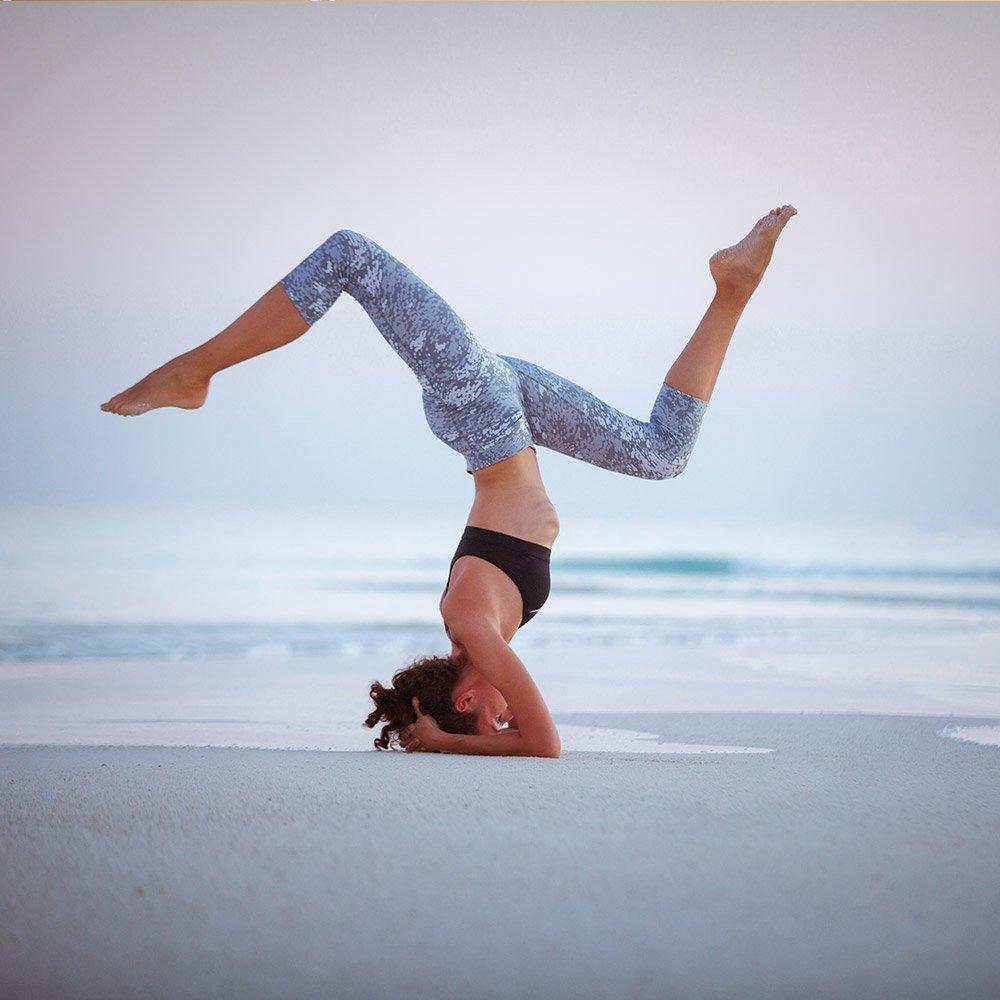 Girl doing Asana Balance Pose