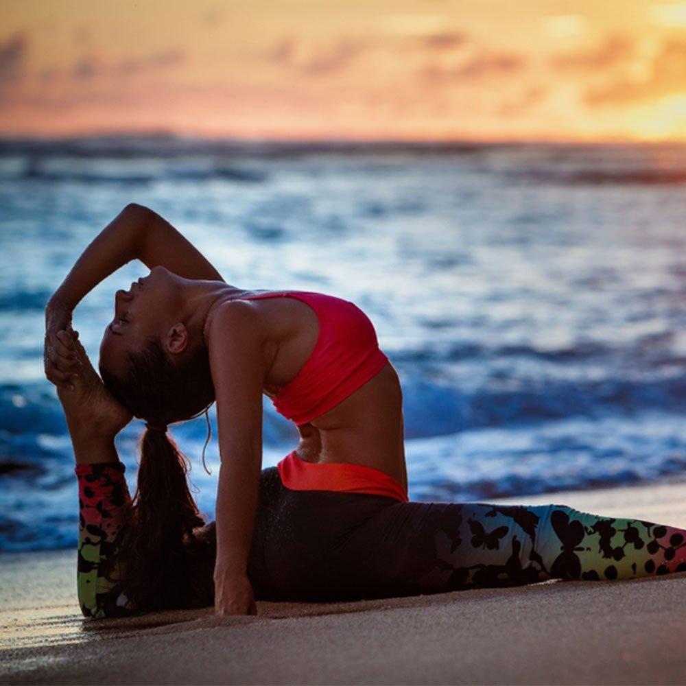 Girl doing Yoga Flexibility Pose
