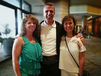 Pat & I with our new Olympian friend Gernot